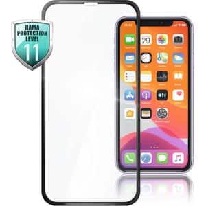 Folie Tempered Glass pentru Apple iPhone 12 Pro/iPhone 12, HAMA 188674, display, 3D, negru
