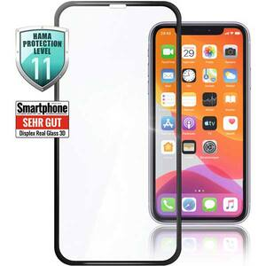 Folie Tempered Glass pentru Apple iPhone 12 Pro Max, HAMA 188675, display, 3D, negru