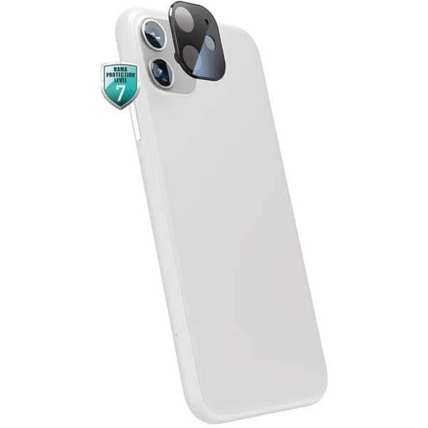 Folie Tempered Glass pentru Apple iPhone 12, HAMA 195512, camera foto, negru