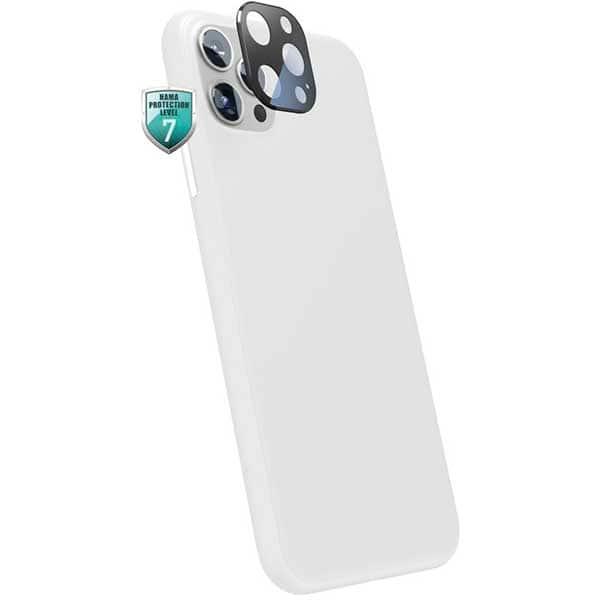 Folie Tempered Glass pentru Apple iPhone 12 Pro/iPhone 12, HAMA 195513, camera foto, negru