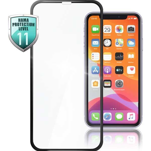 Folie Tempered Glass pentru Apple iPhone 12 mini, HAMA 188673, display, 3D, negru