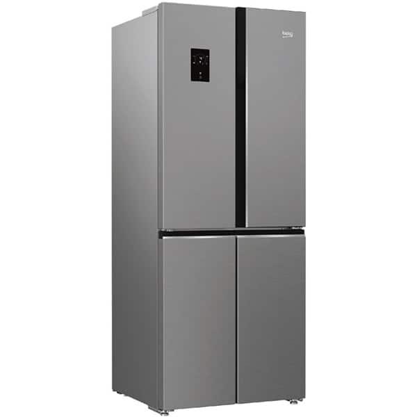 Combina frigorifica BEKO GNE480E20ZXP, NeoFrost, 450 l, H 192 cm, Clasa A++, argintiu