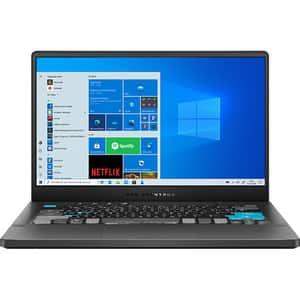 "Laptop Gaming ASUS ROG Zephyrus G14 Alan Walker Edition GA401QEC-K2064T, AMD Ryzen 9 5900HS pana la 4.5GHz, 14"" WQHD, 16GB, SSD 1TB, NVIDIA GeForce RTX 3050 Ti 4GB, Windows 10 Home, gri inchis"