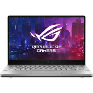 "Laptop Gaming ASUS ROG Zephyrus G14 GA401II-HE008, AMD Ryzen 5-4600HS pana la 4GHz, 14"" Full HD, 16GB, SSD 512GB, NVIDIA GeForce GTX 1650Ti 4GB, Free DOS, alb"