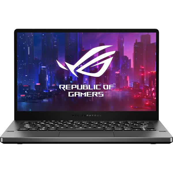 "Laptop Gaming ASUS ROG Zephyrus G14 GA401IV-HA033, AMD Ryzen 9 4900HS pana la 4.4GHz,14"" QHD, 16GB, SSD 1TB, NVIDIA GeForce RTX 2060 Max-Q 6GB, Free DOS, gri inchis"