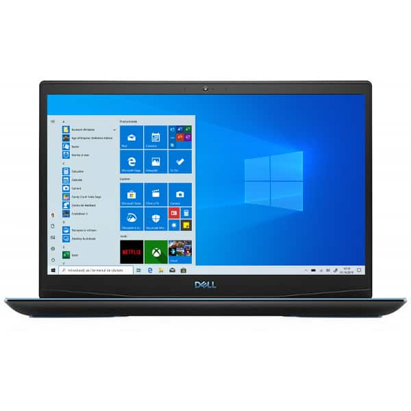 "Laptop Gaming DELL Inspiron 3500 G3, Intel Core i7-10750H pana la 5.0GHz, 15.6"" Full HD, 16GB, SSD 1TB, NVIDIA GeForce RTX 2060 6GB, Windows 10 Home, negru"