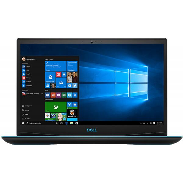 "Laptop Gaming DELL G3 3590, Intel Core i7-9750H pana la 4.5GHz, 15.6"" Full HD, 16GB, SSD 256GB + HDD 1TB, NVIDIA GeForce GTX 1660Ti Max-Q Design 6GB, Linux, negru"
