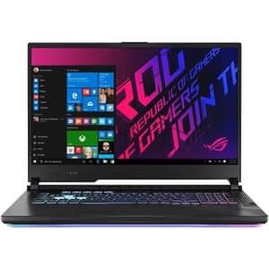 "Laptop Gaming ASUS ROG Strix G17 G712LV-EV023T, Intel Core i7-10750H pana la 5.0GHz, 17.3"" Full HD, 16GB, SSD 512GB, NVIDIA GeForce RTX 2060 6GB, Windows 10 Home, negru"