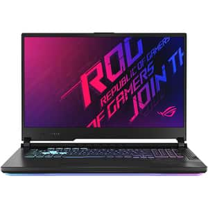 "Laptop Gaming ASUS ROG Strix G17 G712LU-H7021, Intel Core i7-10750H pana la 5.0GHz, 17.3"" Full HD, 8GB, SSD 512GB, NVIDIA GeForce GTX 1660Ti 6GB, Free DOS, negru"