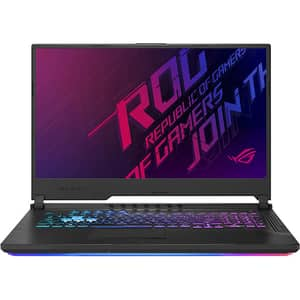 "Laptop Gaming ASUS ROG Strix Scar G731GU-EV048, Intel Core i7-9750H pana la 4.5GHz, 17.3"" Full HD, 8GB, HDD 1TB + 256GB SSD, NVIDIA GeForce GTX 1660 Ti 6GB, Free Dos, Negru"