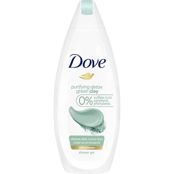 Gel de dus DOVE Green Clay, 500ml