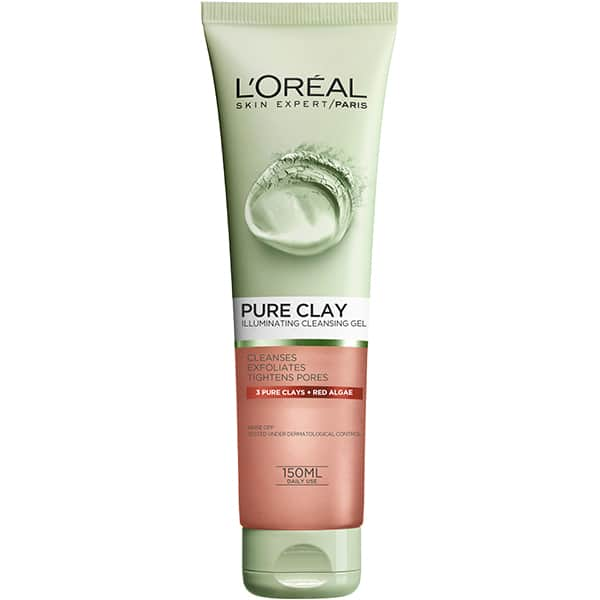 Gel de curatare exfoliant L'OREAL PARIS Pure Clay, 150ml