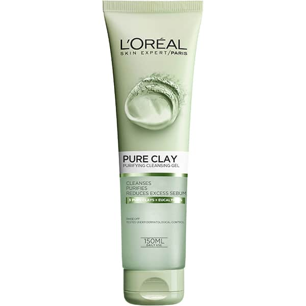 Gel de curatare matifiant L'OREAL PARIS Pure Clay, 150ml