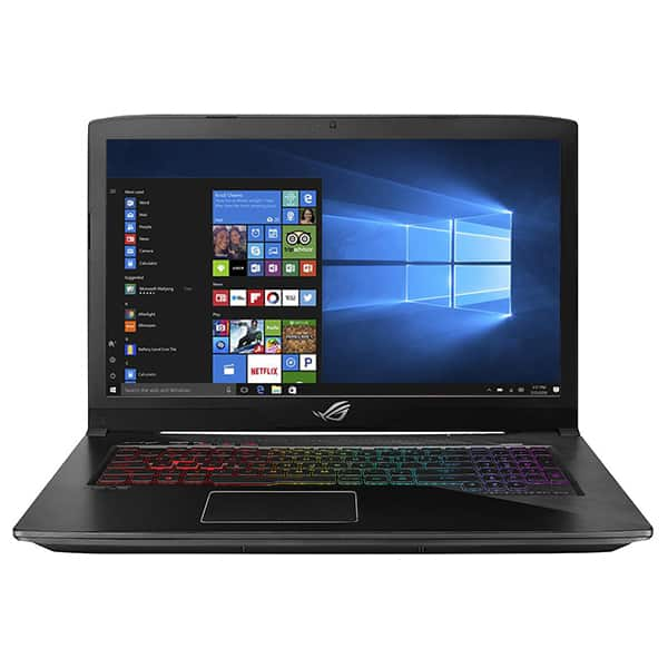 "Laptop Gaming ASUS ROG Strix GL703GE-GC007T, 17.3"" Full HD, Intel Core i7-8750H pana la 4.1GHz, 8GB, HDD 1TB + SSD 128GB, NVIDIA GeForce GTX 1050 Ti 4GB, Windows 10 Home"