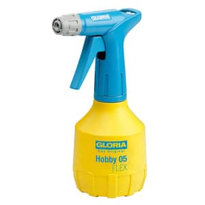 Pulverizator GLORIA Hobby 05 FLEX, 0.5L, dubla pulverizare, garnituri NBR, galben