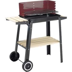 Gratar pe carbuni GRILL CHEF 0566 Wagon, metal, 47 x 24 cm, rosu