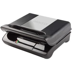 Gratar electric PRINCESS Compact Flex 111700101001, 700W, negru-argintiu