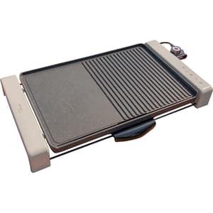 Gratar electric DELIMANO Perla 106127550, 2300W, crem-negru
