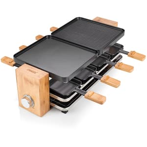 Gratar electric PRINCESS Raclette 116291001001, 1200W, negru-maro