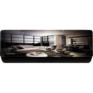 Aer conditionat GRUNDIG GREPE120, 11000 BTU, A+++/A++, Wi-Fi, kit instalare inclus, gri-negru-oglinda