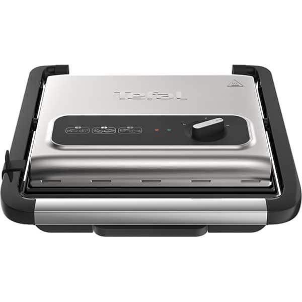 Gratar electric TEFAL Inicio Grill GC242D38, 2000W, argintiu-negru