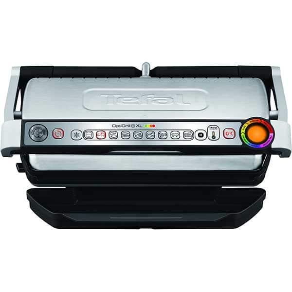 Gratar electric TEFAL OptiGrill+ XL Snacking&Baking GC724D12, 2000W, 9 programe automate, argintiu-negru