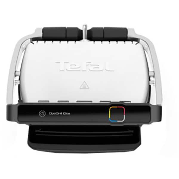 Gratar electric TEFAL OptiGrill Elite GC750D30, 2000W, 12 programe automate, argintiu-negru