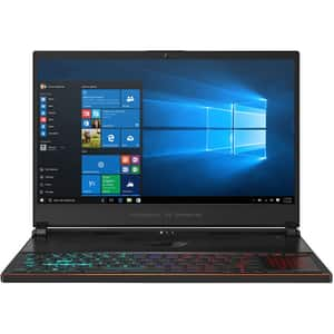 "Laptop Gaming ASUS ROG Zephyrus S GX531GXR-AZ033T, Intel Core i7-9750H pana la 4.5GHz, 15.6"" Full HD, 16GB, SSD 512GB, NVIDIA GeForce RTX 2080 8GB, Windows 10 Home, negru"