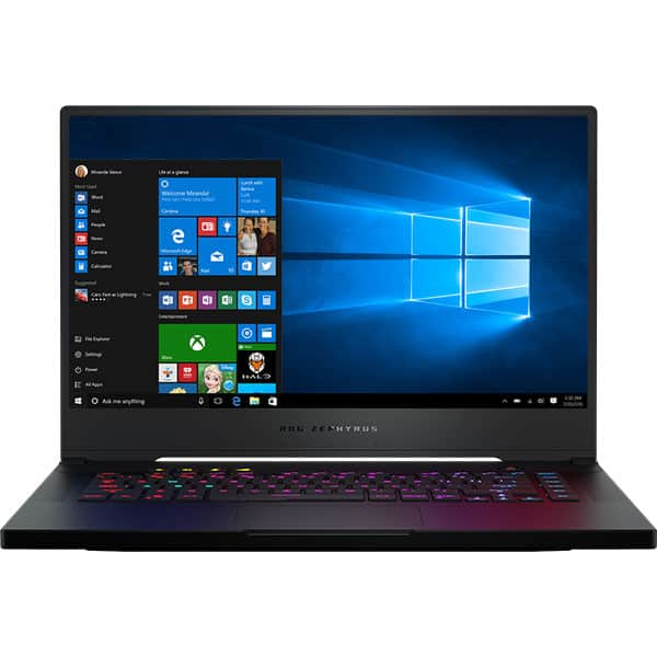 "Laptop Gaming ASUS ROG Zephyrus S GX502GV-AZ072T, Intel Core i7-9750H pana la 4.5GHz, 15.6"" Full HD, 32GB, SSD 512GB, NVIDIA GeForce RTX 2060 6GB, Windows 10 Home, negru"