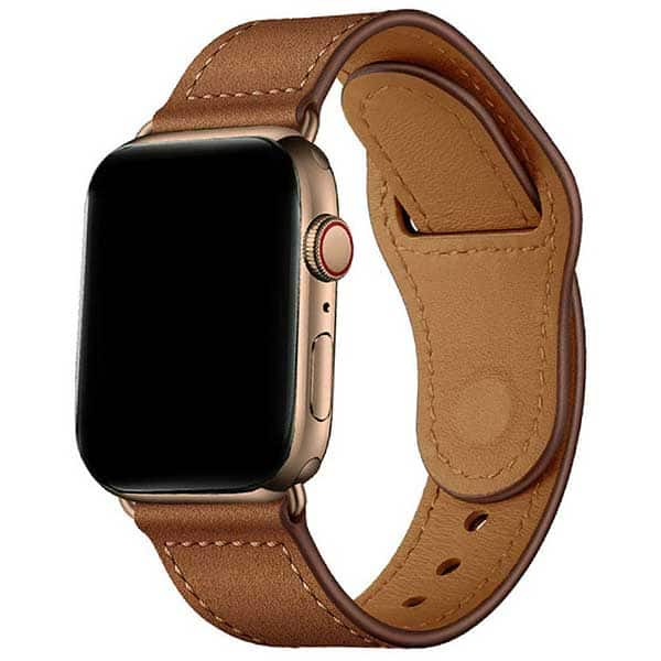 Bratara pentru Apple Watch 38mm/40mm, PROMATE Genio-38, piele naturala, maro