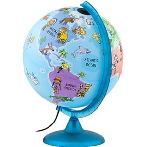 Glob pamantesc TECNODIDACTICA Mappa&Mondo, diametrul 25 cm, iluminat