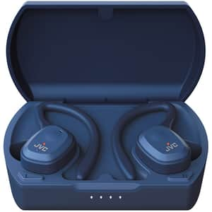 Casti JVC HA-ET45T, True Wireless, Bluetooth, In-Ear, Microfon, albastru