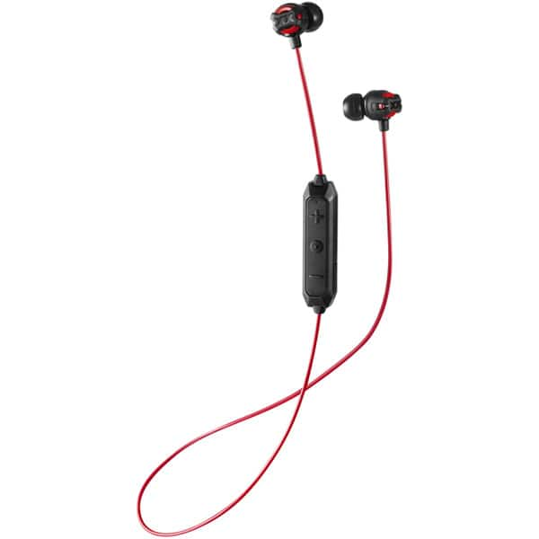 Casti JVC HA-FX103BT-RE, Bluetooth, In-Ear, Microfon, negru-rosu