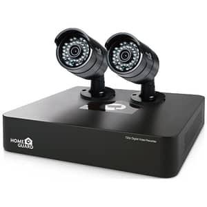 Kit supraveghere video HOMEGUARD Smart HD CCTV HGDVK46702, 2 camere HD 720p, DVR, 4 canale, negru