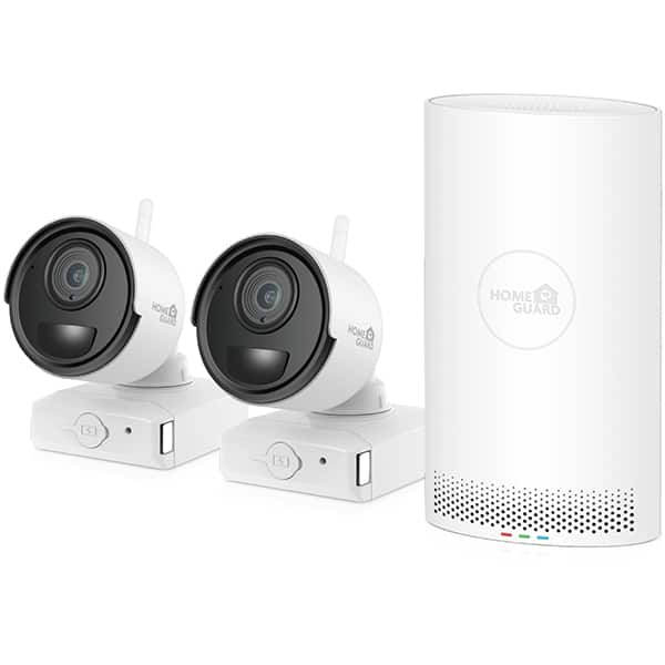 Kit supraveghere wireless HOMEGUARD HGNVK68002, 2 camere 1080p, NVR 6 canale, alb