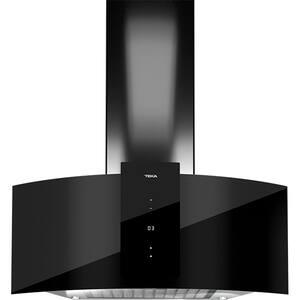 Hota decorativa TEKA DU 985 CRISTAL, 1 motor, 920 m3/h, L 90 cm, negru