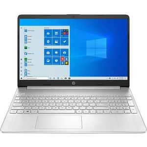 """Laptop HP 15s-eq2001nq, AMD Ryzen 7 5700U pana la 4.3GHz, 15.6"""" Full HD, 8GB, SSD 512GB, AMD Radeon Graphics, Windows 10 Home, argintiu"""
