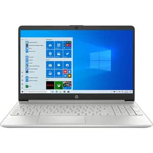 "Laptop HP 15s-fq1051nq, Intel Core i3-1005G1 pana la 3.4GHz, 15.6"" Full HD, 8GB, SSD 256GB, Intel UHD Graphics, Windows 10 S, argintiu"