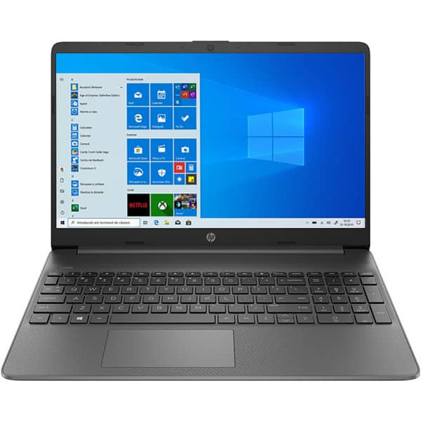 "Laptop HP 15s-eq1005nq, AMD Athlon Silver 3050U pana la 3.2GHz, 15.6"" Full HD, 4GB, SSD 256GB, AMD Radeon Graphics, Windows 10 Home S, gri"