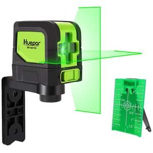 Nivela cu laser HUEPAR 9011G, raza 30m, negru-verde
