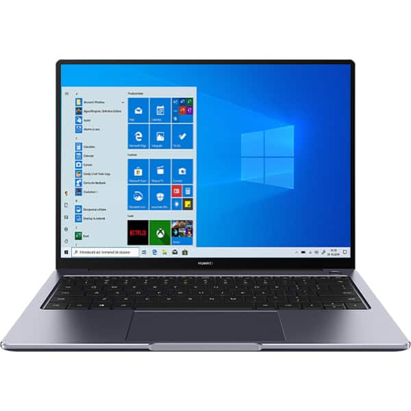 "Laptop HUAWEI MateBook 14, AMD Ryzen 5 4600H pana la 4.0GHz, 14"" QHD, 8GB, SSD 256GB, AMD Radeon Graphics, Windows 10 Home, Space Gray"