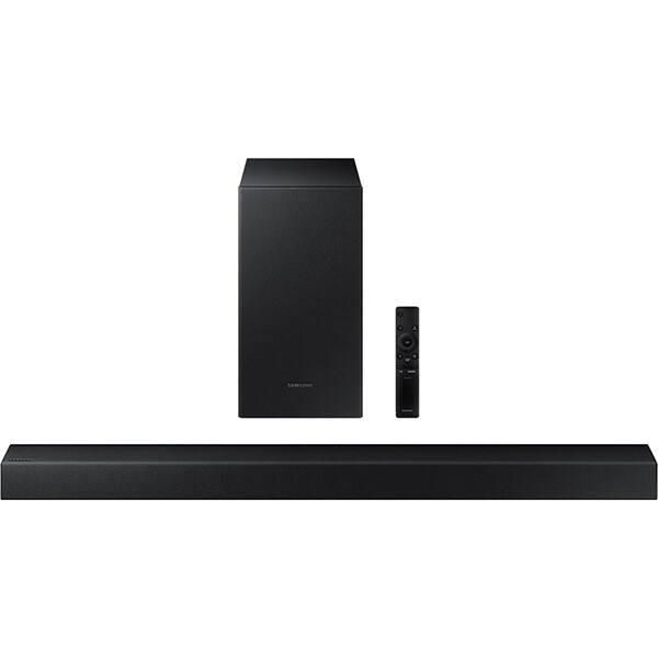 Soundbar Samsung HW-T430, 2.1, 170W, Bluetooth, Subwoofer Wireless, Dolby, negru