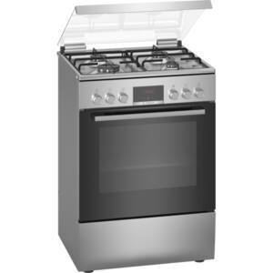 Aragaz BOSCH HXN39AD50, 4 arzatoare, mixt, L 60 cm, grill, inox
