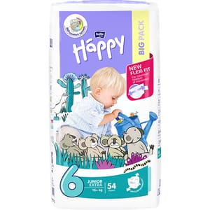 Scutece HAPPY Junior Extra nr 6, Unisex, 16+ kg, 54 buc