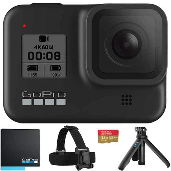 Camera video sport GoPro HERO8, 4K, Wi-Fi, GPS, Black, Bundle