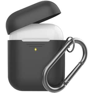 Husa pentru Apple AirPods + inel prindere PROMATE GripCase, negru