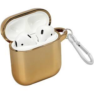 Husa pentru Apple AirPods + inel prindere PROMATE NeonCase, silicon galvanizat, auriu