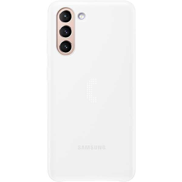 Carcasa Smart Led Cover pentru SAMSUNG Galaxy S21, EF-KG991CWEGWW, alb