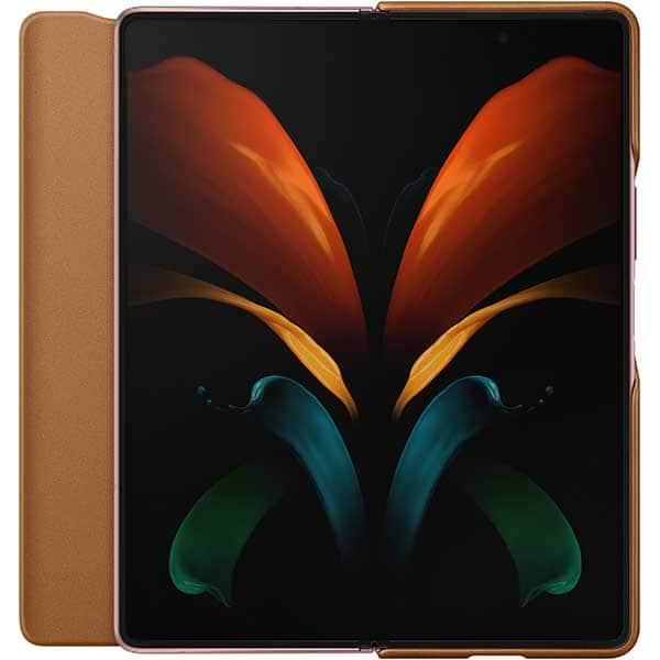 Husa Leather Flip Cover pentru SAMSUNG Galaxy Z Fold2, piele naturala, EF-FF916LAEGEU, maro