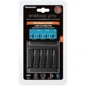 Incarcator PANASONIC Eneloop Pro BQ-CC63, 1-4 AA/AAA, USB, negru